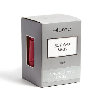Elume Cinnamon Spice And Berries Scented Soy Wax Melts 3 Pack In Box