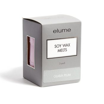 Elume Guava Plum Scented Soy Wax Melts 3 Pack In Box