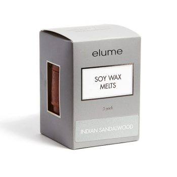 Elume Indian Sandalwood Scented Soy Wax Melts 3 Pack In Box