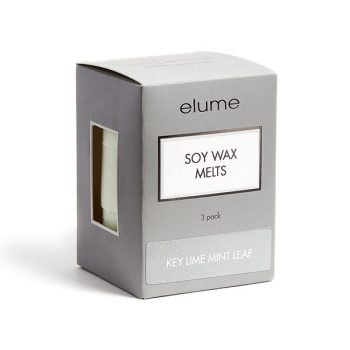 Elume Key Lime Mint Leaf Scented Soy Wax Melts 3 Pack In Box