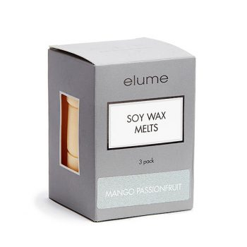 Elume Mango Passionfruit Scented Soy Wax Melts 3 Pack In Box