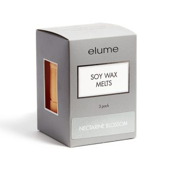 Elume Nectarine Blossom Scented Soy Wax Melts 3 Pack In Box