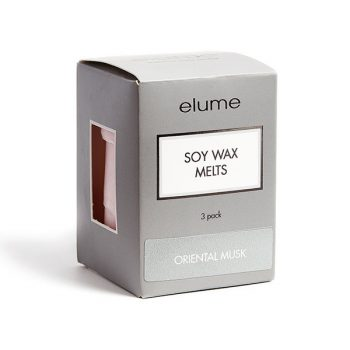 Elume Oriental Musk Scented Soy Wax Melts 3 Pack In Box