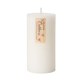 Elume Outdoors Citronella Teatree And Lavender Soy Pillar Candle 3x6