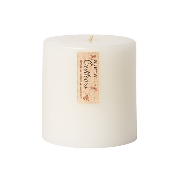 Elume Outdoors Citronella Teatree And Lavender Soy Pillar Candle Small