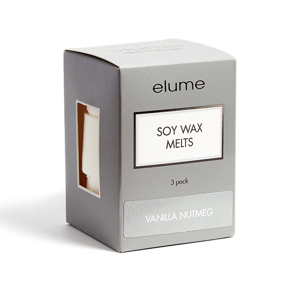 Elume Vanilla Nutmeg Scented Soy Wax Melts 3 Pack In Box