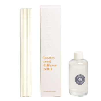 Elume Mahogany Ylang Scented Luxury Reed Diffuser Refill Box Sticks And 200ml Bottle