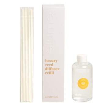 Elume Mango Passionfruit Scented Luxury Reed Diffuser Refill Box Sticks And 200ml Bottle