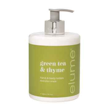 Elume Hand And Body Lotion Green Tea & Thyme Fragranced